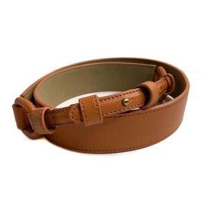 Talbots Split Leather Rivet Closure D Ring Belt